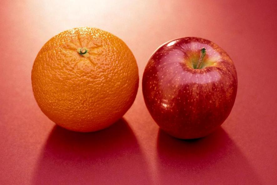 apples vs oranges essay The best way to tackle writing a compare and contrast essay to spend some time thinking about your topics and brainstorm a list of the similarities and differences between the two, much like the list for apples and oranges above the ideas that you come up will help develop your thesis, or the point your essay will set out to.