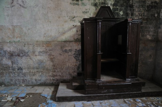 confessional-loon church