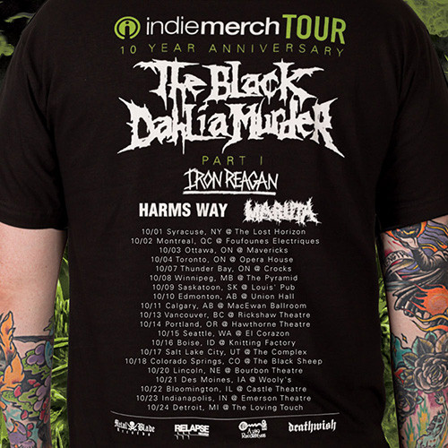 Black Dahlia Murder IndieMerch Tour 2015