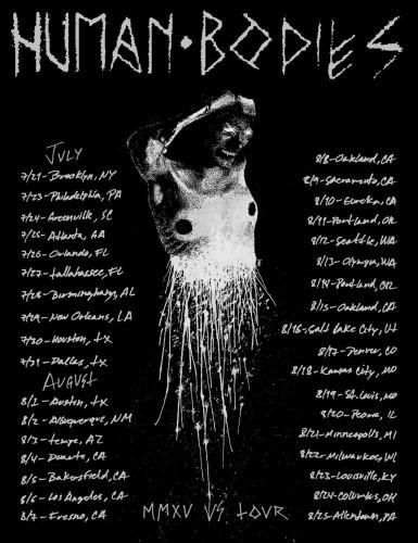 Human Bodies tour flyer
