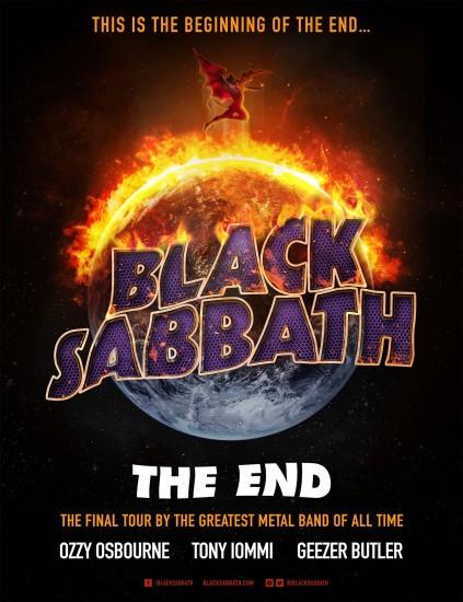 Black Sabbath-The End tour flyer