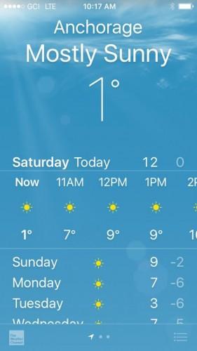 Anchorage temperature