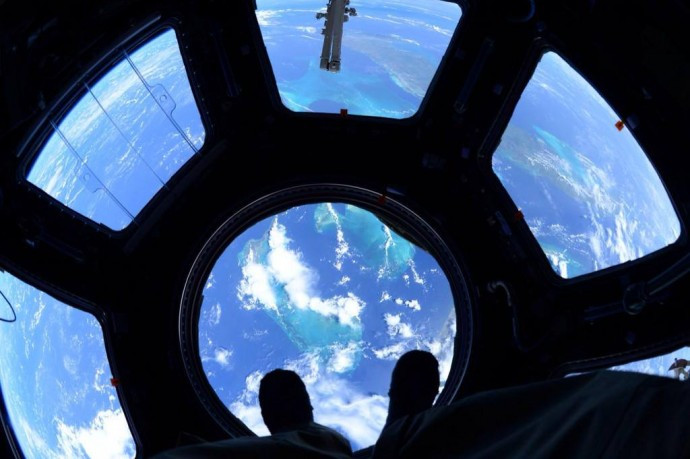 Scott Kelly-view from the ISS cupola