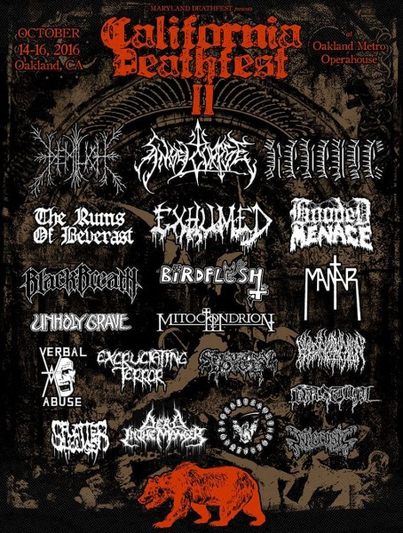California Deathfest II-second flyer