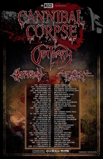 Cannibal Corpse tour