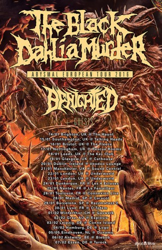 Black Dahlia Murder European Tour 2016