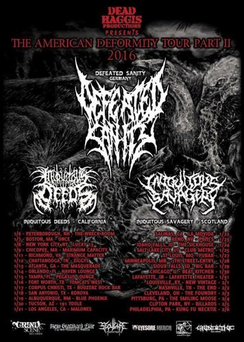 Defeated Sanity tour