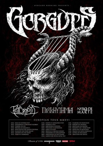 Gorguts European tour flyer