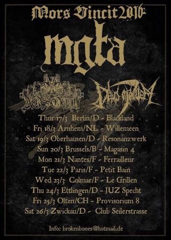 Mgla-Aosoth-Deus Mortem tour 2016