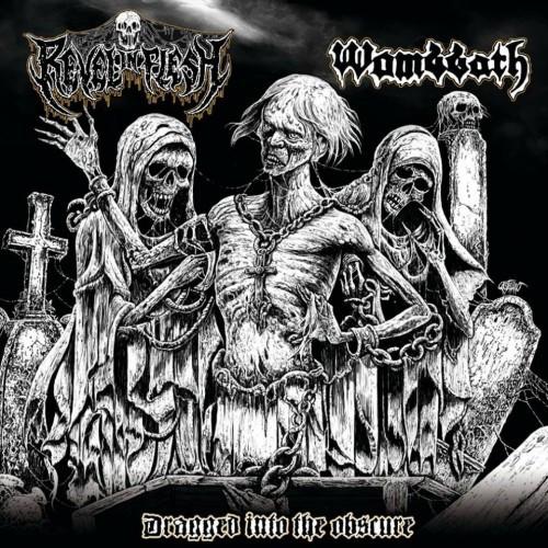 Wombbath-Revel In Flesh split cover