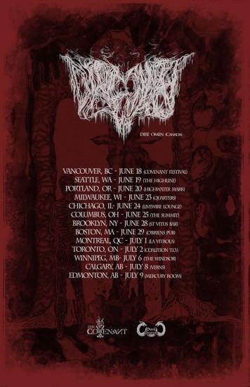Dire Omen tour poster