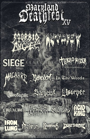 Maryland Deathfest XV first poster