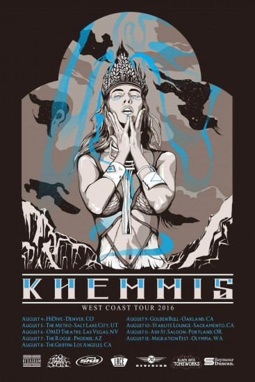 Khemmis West Coast Tour flyer