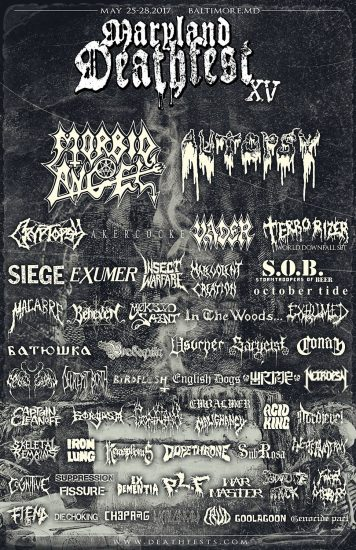 Maryland Deathfest XV updated flyer