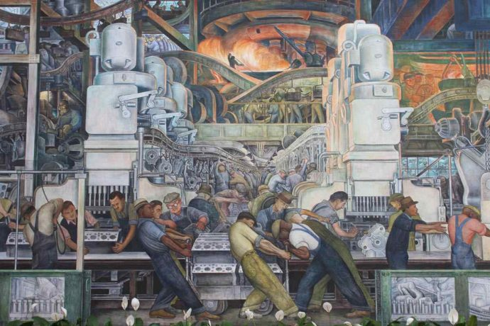 Diego Rivera-Detroit Industry mural