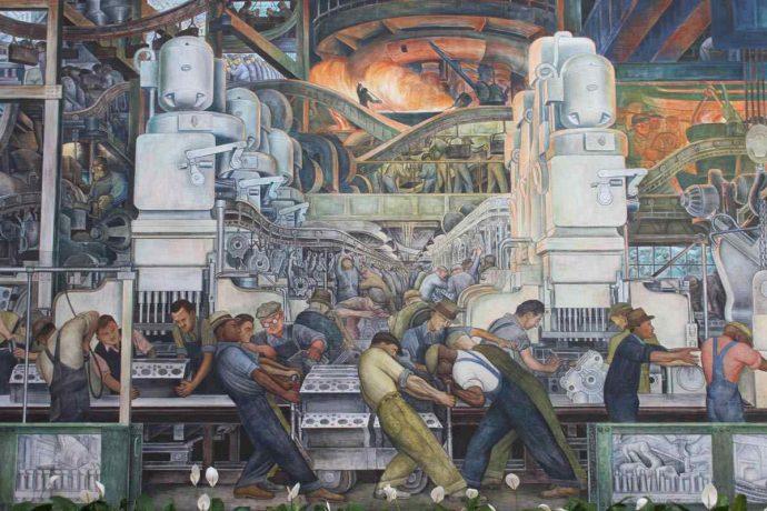 Diego Rivera-Detroit Industry mural